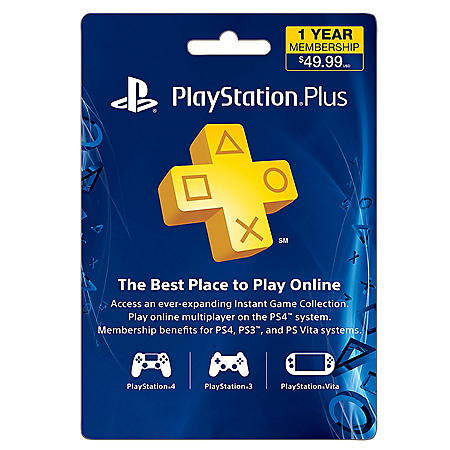 Sony Playstation Plus 12 Month 49 99 Egift Card Email Delivery Sam S Club