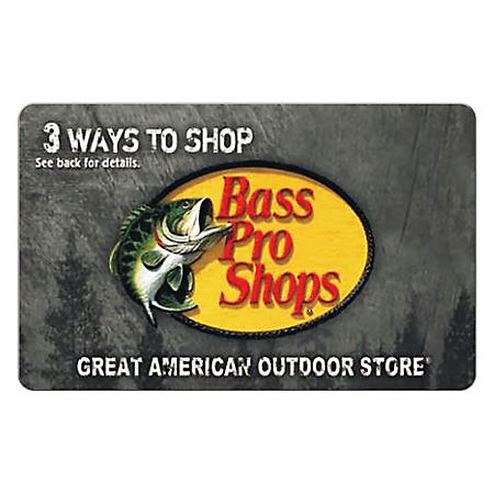 Bass Pro Shops eGift Card - Various (Email Delivery)