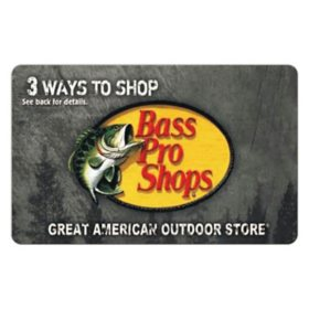 Bass Pro Shops eGift Card - Various Amounts (Email Delivery)