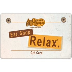 Cracker Barrel eGift Card - Various Amounts (Email Delivery)
