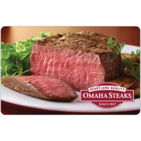 Omaha Steaks eGift Card - Various Amounts (Email Delivery)