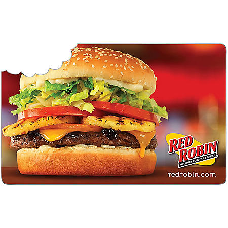 Red Robin eGift Card - Various Amounts (Email Delivery)