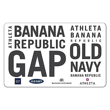 GAP Options (Gap, Old Navy, Banana Republic and, Athleta) $25  eGift Card (Email delivery)