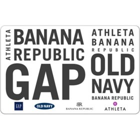 GAP Options (Gap, Old Navy, Banana Republic and, Athleta) $50 eGift Card (Email Delivery)