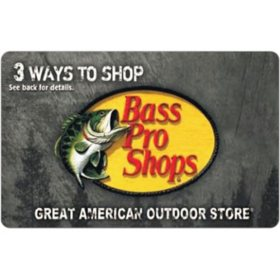 Bass Pro $100 eGift Card (Email Delivery)