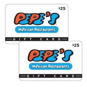 Pepe's Mexican Restaurant $50 Value Gift Cards - 2 x $25