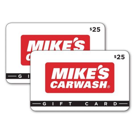 Mike's Carwash Gift Card - 2/$25