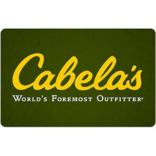 Cabela's eGift Card - Various Amounts (Email Delivery)