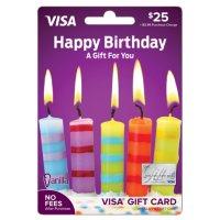 Vanilla Visa® Happy Birthday Candles $25 Gift Card