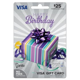 Vanilla VisaR Happy Birthday Party Box 25 Gift Card