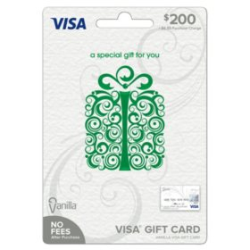 Vanilla Visa Specialty Scroll Box Green $200 Gift Card