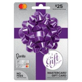 Vanilla Mastercard Party Bow $25 Gift Card