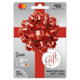 Vanilla Mastercard Party Bow $50 Gift Card