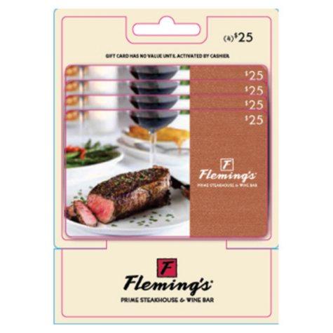 Flemings $100 Multi-Pack - 4/$25 Gift Cards