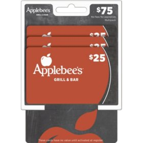 Applebee's $75 Multi-Pack - 3/$25 Gift Cards