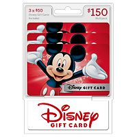 3-Pack/$50 Disney $150 Gift Cards