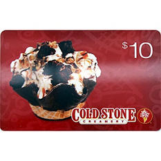 Cold Stone Creamery $50 Gift Card - 5/$10 for $39.98