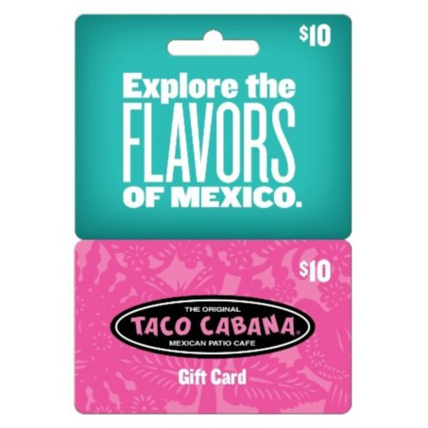 Taco Cabana $50 Multi-Pack - 5/$10 Gift Cards for $39.98