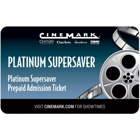 Cinemark Gift Card - 2 Adult Movie Tickets for $16.98