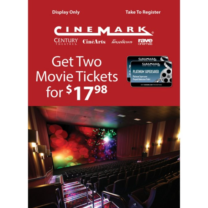 Sams club cinemark gift card 2 adult movie tickets carousel page 1 of 3 active negle Images