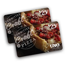 Uno Chicago Grill $50 Multi-Pack - 2/$25 Gift Cards for $39.98