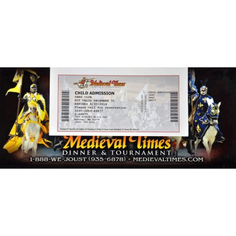 Medieval Times Gift Card - Baltimore, MD - 1 Child Dinner & Tournament