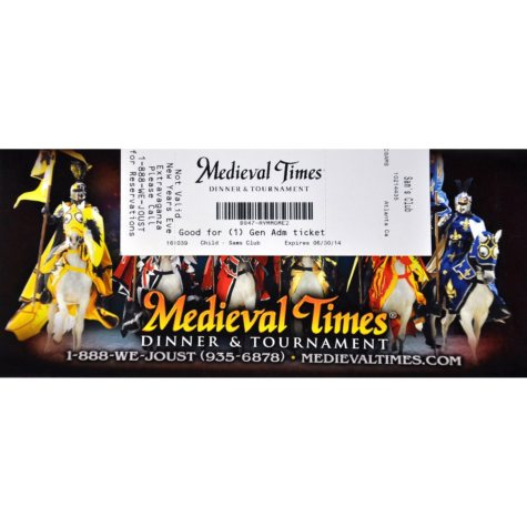 Medieval Times Gift Card - Atlanta, GA - 1 Child Dinner & Tournament