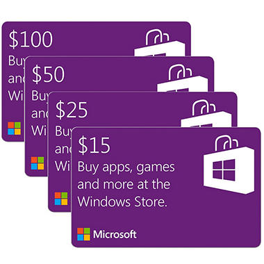 Windows Store Gift Card -Various Amounts (Email Delivery)