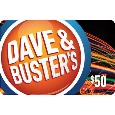 Dave & Buster's $50 Gift Card for $39 98 - Sam's Club