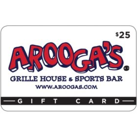 Arooga's $50 Value Gift Cards - 2 x $25