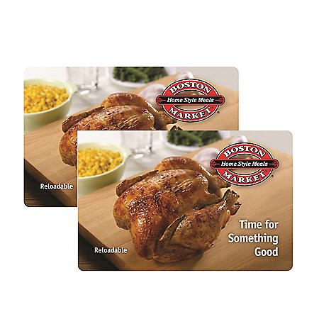 Boston Market $50 Value Gift Cards - 2 x $25