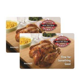 Boston Market $50 Value Gift Cards - 2 x $25