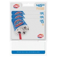 Dairy Queen $45 Multi-Pack - 3/$15 Gift Cards