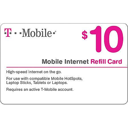 T-Mobile Prepaid Mobile Internet On-Demand Pass eGift Card - Various