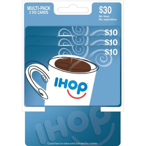 IHOP $30 Multi-Pack - 3/$10 Gift Cards