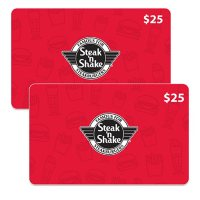 $50 Steak N Shake Value Gift Cards (2 x $25)