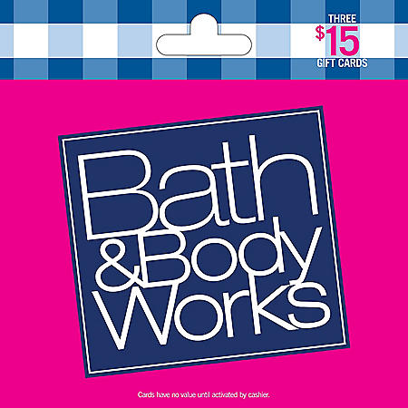 Bath & Body Works $45 Value Gift Cards -3 x $15