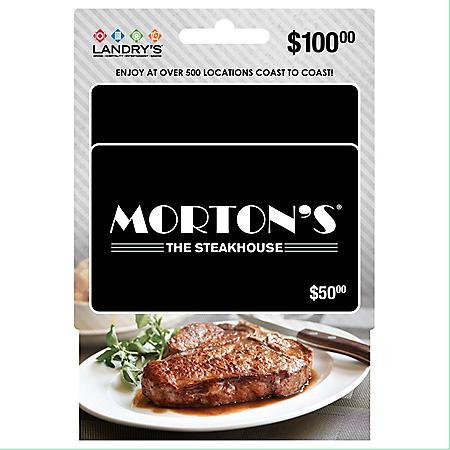 Landry's Morton's $100 Multi-Pack- 2/$50 Gift Cards