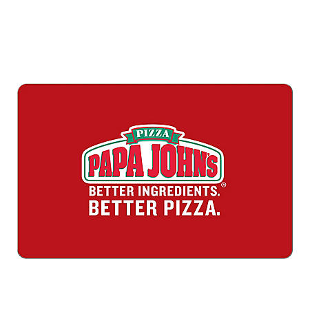 Papa John's eGift Card - Various Amounts (Email Delivery)