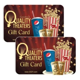 Goodrich Quality Theaters $50 Value Gift Cards - 2 x $25