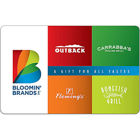 Bloomin' Brands eGift Card - Various Amounts (Email Delivery)