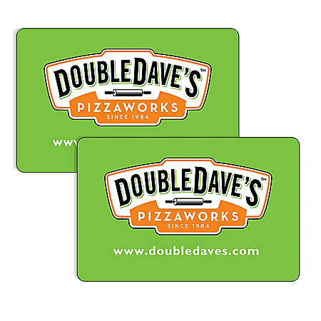 DoubleDave's Pizzaworks (TX, OK) $50 Value Gift Cards - 2 x $25