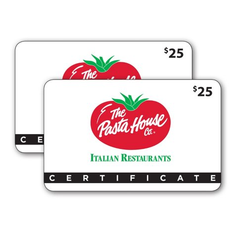 The Pasta House Gift Cards - 2 x $25