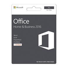 Microsoft Office Home & Business 2016 for Mac, 1 Mac