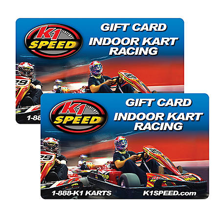 K1 Speed $50 Value Gifts Cards - 2 x $25 - Sam's Club