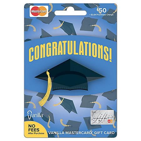 Vanilla® Mastercard® Graduation $50 Gift Card