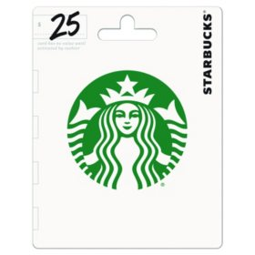 Starbucks Gift Card - Various Amounts