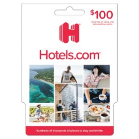 Hotels.com $100 Value Gift Card