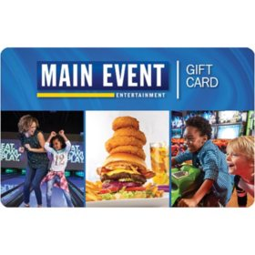 The Main Event $50 Value Gift Cards - 2 x $25