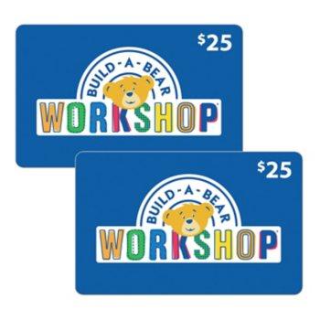 $100 Build-A-Bear Workshop Various Values Gift Card